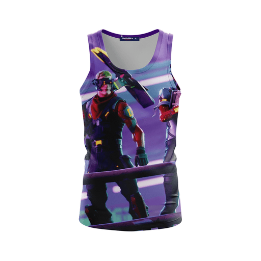 Fortnite Battle Royal Rocket Launch Amazing Purple Tank Top
