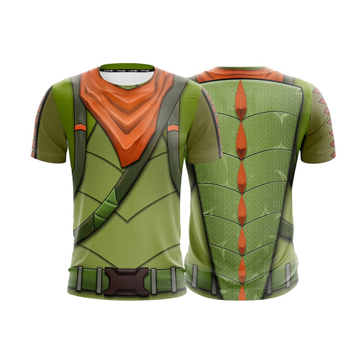 Fortnite Battle Royale Dinausor T-Rex Skin Cosplay T-shirt - Superheroes Gears