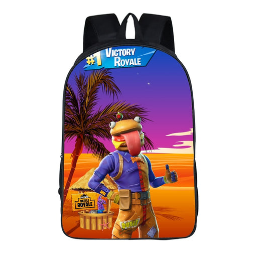Fortnite Funny Durr Burger Desert Victory Thumbs Up Backpack