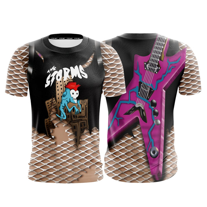 fortnite game power chord skin the storms cosplay t shirt superheroes gears - power chord fortnite art