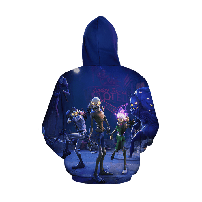 Fortnite Game Save The World Inspired Cool Purple Hoodie