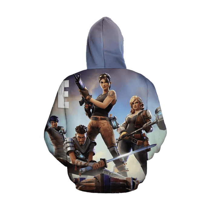 Fortnite Gaming Battle Royal Inspired 3D Full Print Hoodie