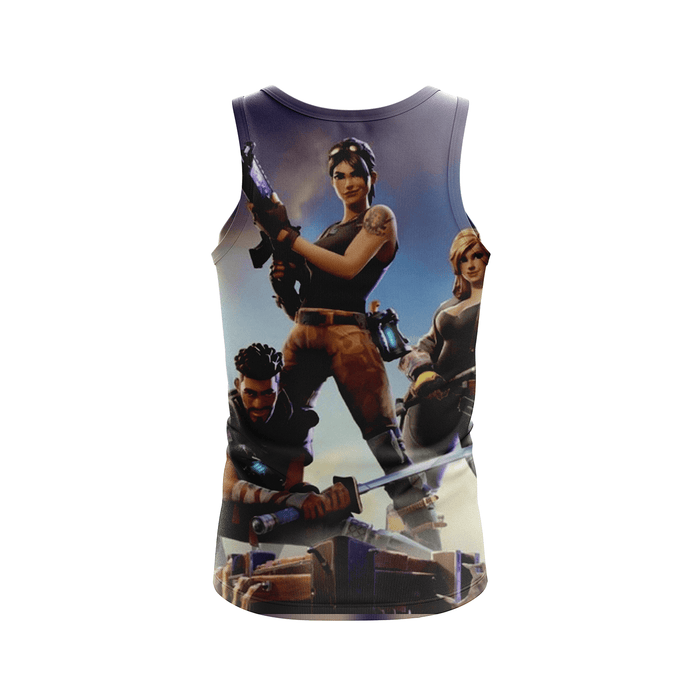Fortnite Gaming Battle Royal Inspired 3D Full Print Tank Top