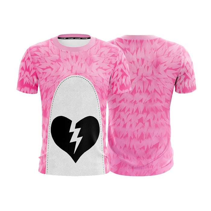 Fortnite Pink Teddy Bear Valentine Day Skin Cosplay T-shirt - Superheroes Gears