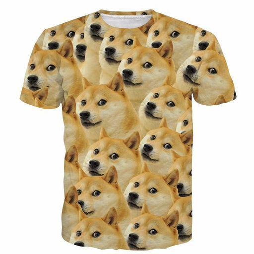 ad4887c3 Funny Doge Meme Shiba Inu Japan Hunt Dog 3D Medium Version T-Shirt -  Superheroes