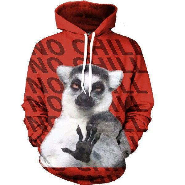Funny No Chill King Julian Lemur Madagascar Super Cool Hoodie - Superheroes Gears
