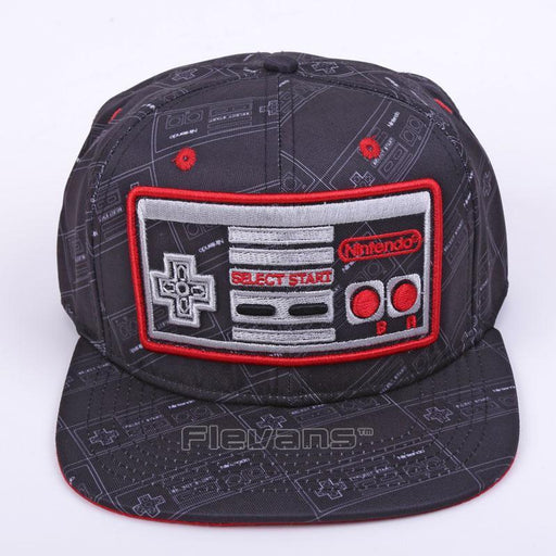 Game Console Cool Creative Black Snapback Baseball Hat Cap - Superheroes Gears
