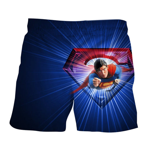 Glowing Superman Cool Blue Red Design Boardshorts