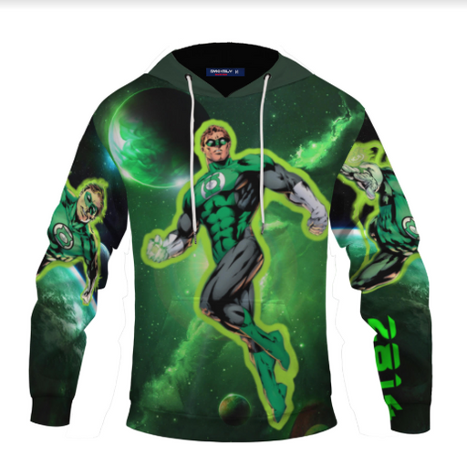 Great Mike's 2814 Green Lantern Cool Quote Pullover Hoodie