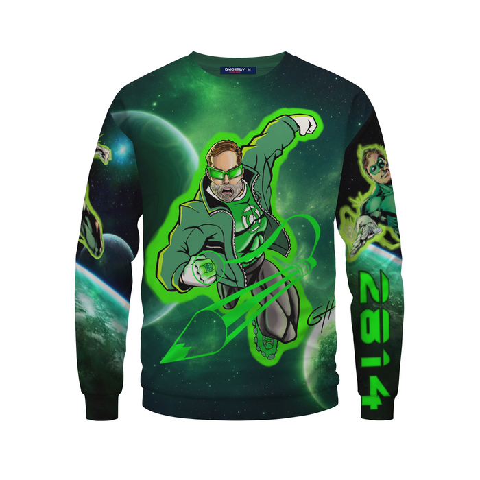 Great Mike's Customized Awesome Green Lantern Sweatshirt
