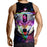 Growling Angry Wolf Triangle Blade Galaxy Design Tank Top