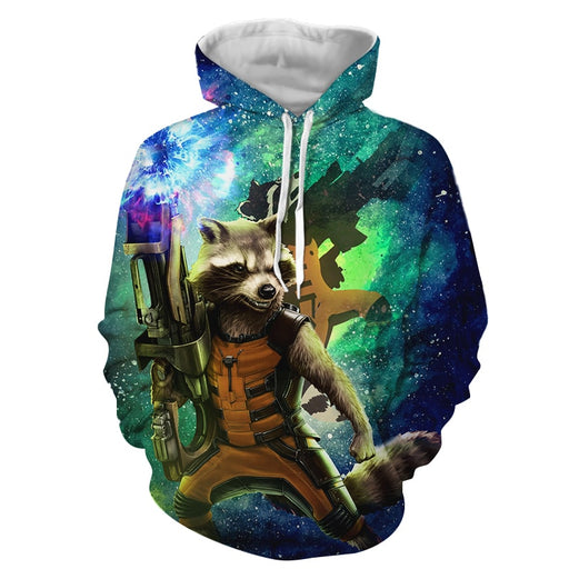 Guardians Of The Galaxy Awesome Rocket Raccoon Green Hoodie