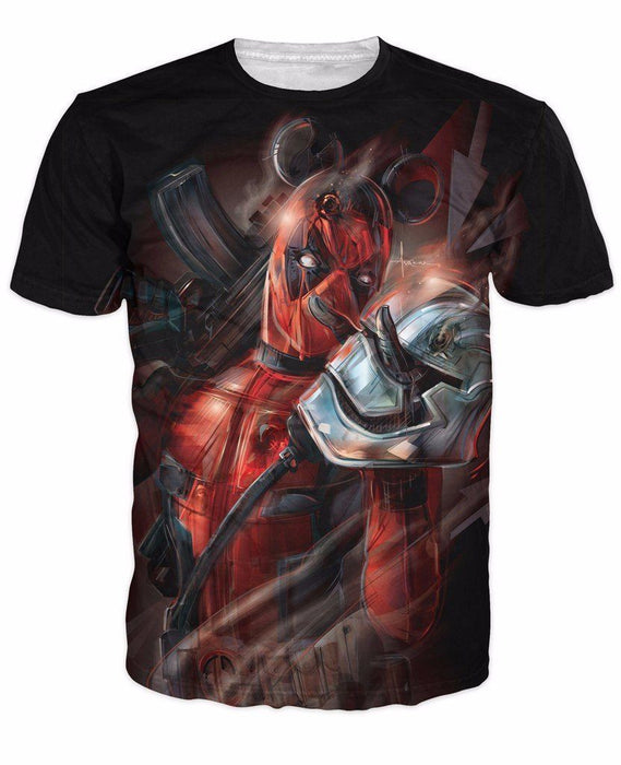 Deadpool x Storm Trooper Character Crossovers Cool Unique Design T-shirt - Superheroes Gears