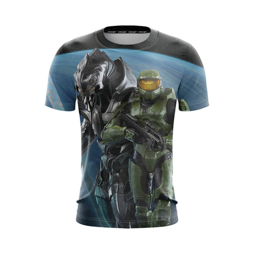 Halo Awesome Master Chief Mark V Armor Battle Suit T-Shirt