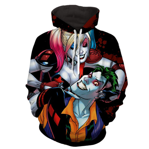 Harley Quinn And Joker Scary Smile Suicide Squad Hoodie