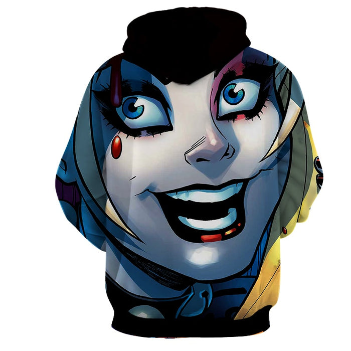 Harley Quinn Full Face Animated Suicide Squad Hoodie