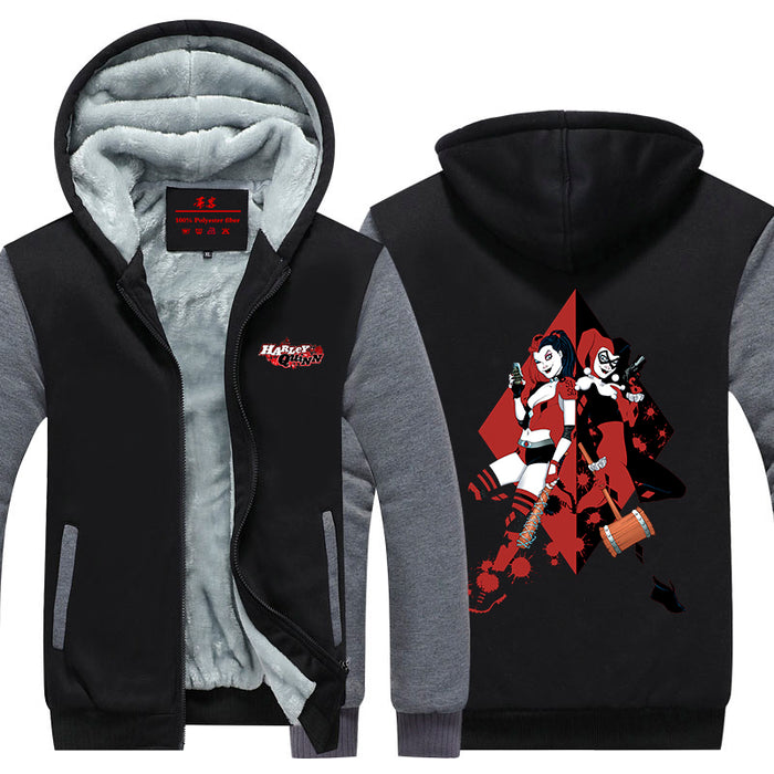 Harley Quinn Sisterhood Weapon Action Dope Hooded Jacket - Superheroes Gears