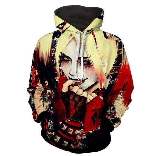 Harley Quinn Smiling Yellow Hair Suicide Squad Cool Hoodie
