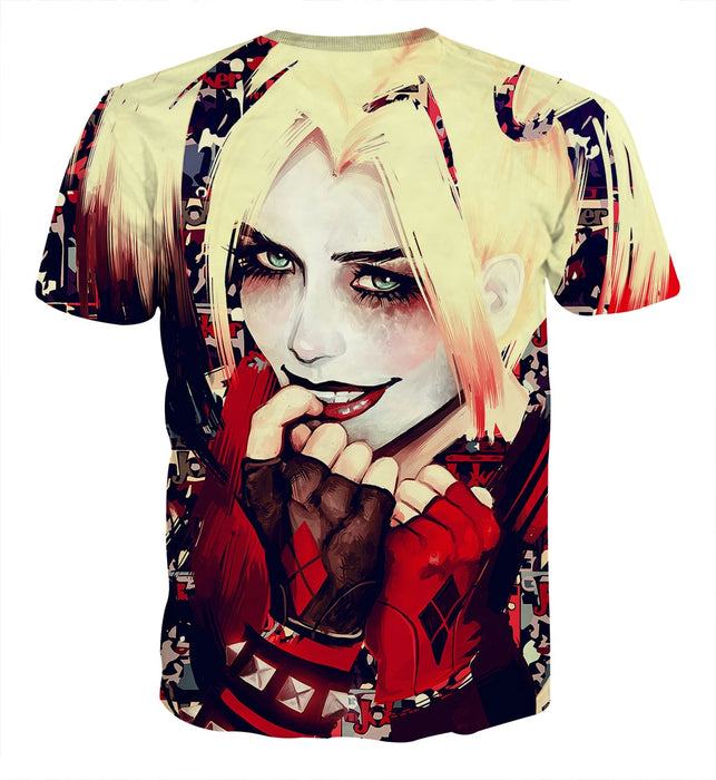 Harley Quinn Smiling Yellow Hair Suicide Squad Cool T-shirt
