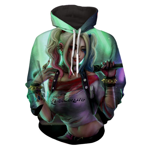 Harley Quinn Suicide Squad DC Comics Stolen Pose Hoodie