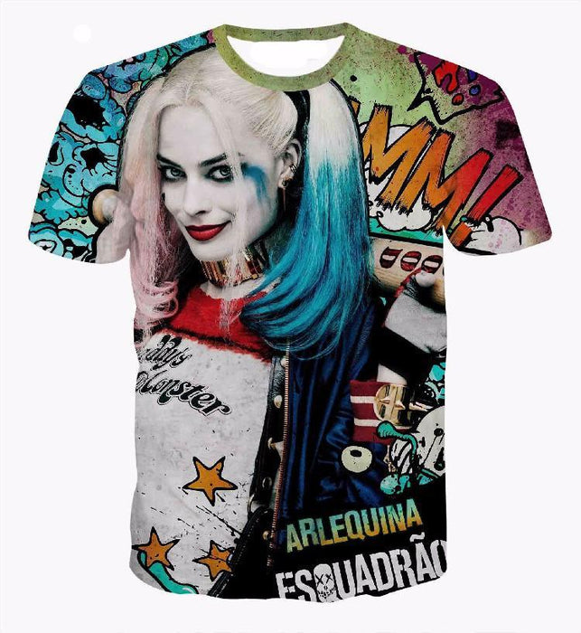 Harley Quinn Suicide Squad Movie Character Color Concept T-Shirt - Woof Apparel