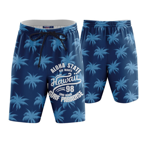 Hawaii Long Beach Surf Paradise Boardshorts Swim Trunks