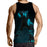Incredible Black Roaring Wolf Design Stylish Tank Top
