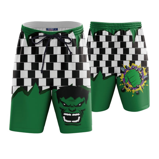 Incredible Hulk Green Stylish Boardshorts Swim Trunks