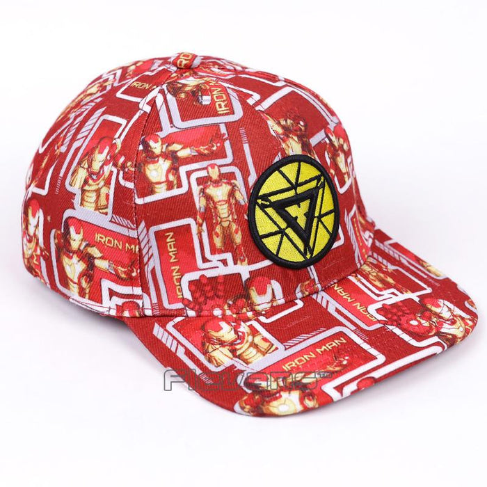 Iron Man Amazing Streetwear Bright Red Yellow Cool Snapback - Superheroes Gears