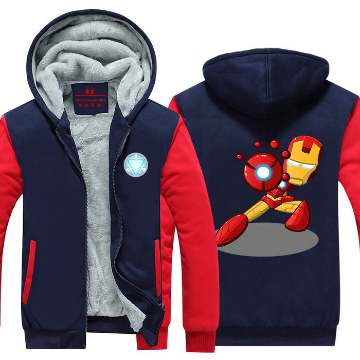 Iron Man Avengers Cute Chibi Red Armor Cool Hooded Jacket - Superheroes Gears