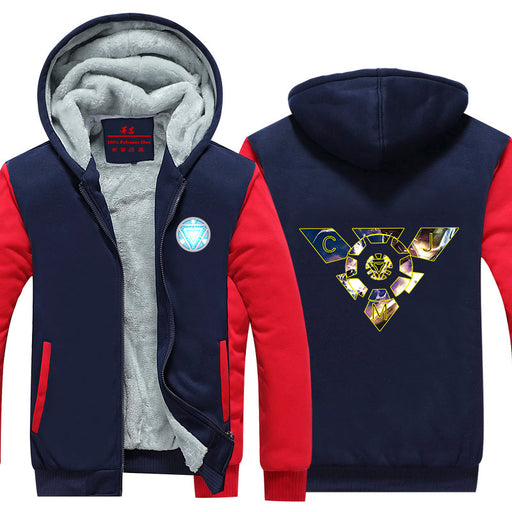 Iron Man Avengers Designed Arc Reactor Unique Hooded Jacket - Superheroes Gears