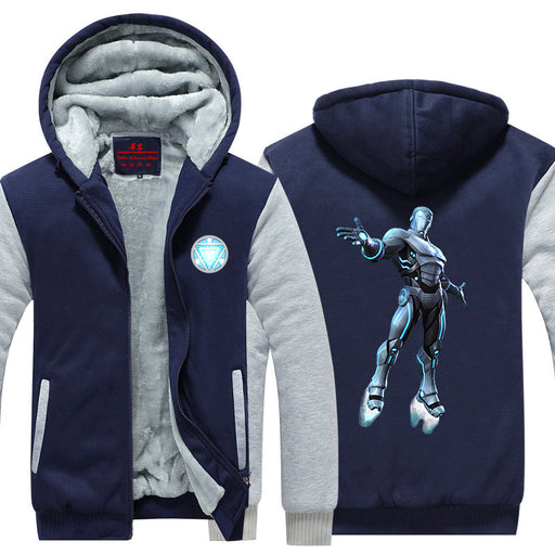 Iron Man Avengers Endo Sym Armor Silver Nice Hooded Jacket - Superheroes Gears