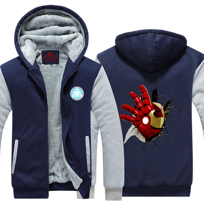 Iron Man Avengers Red Hand Of Armor Unique Hooded Jacket - Superheroes Gears