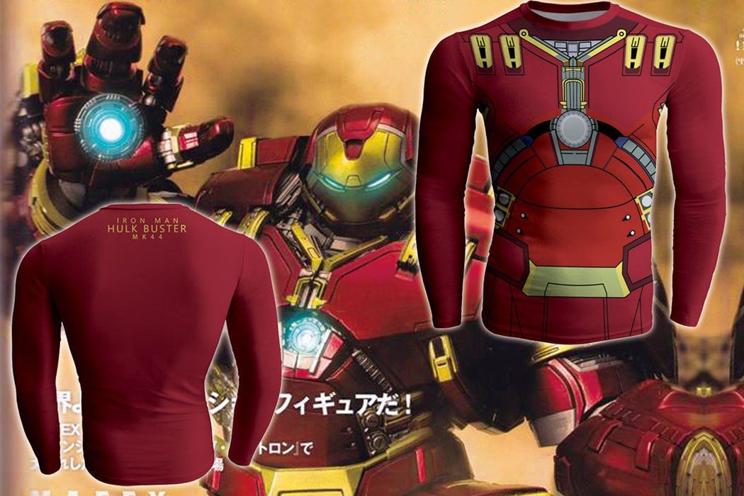 Iron Man Hulk Buster 44 Dope Long Sleeves Compression T-shirt - Superheroes Gears