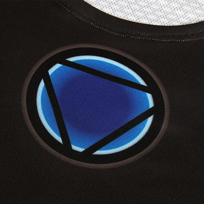 Iron Man In Black Suit Blue Arc Reactor Symbol New Design T-shirt - Superheroes Gears