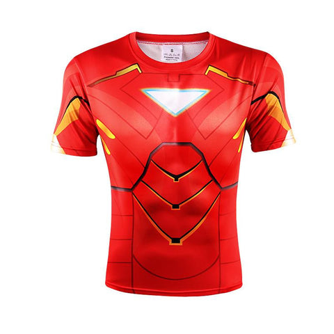 Iron Man Marvel Superhero Suit up Mark VI Stylish 3D Workout T-shirt