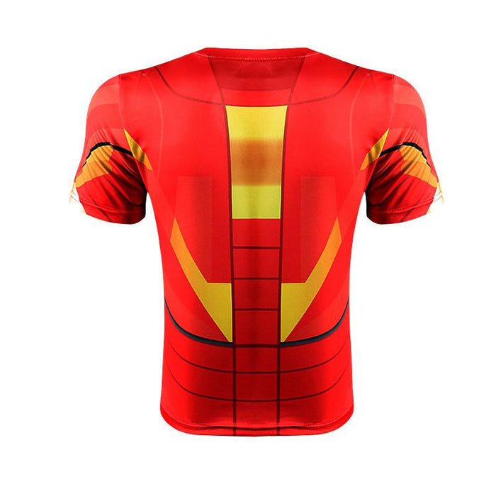 Iron Man Marvel Superhero Suit up Mark VI Stylish 3D Workout T-shirt - Superheroes Gears