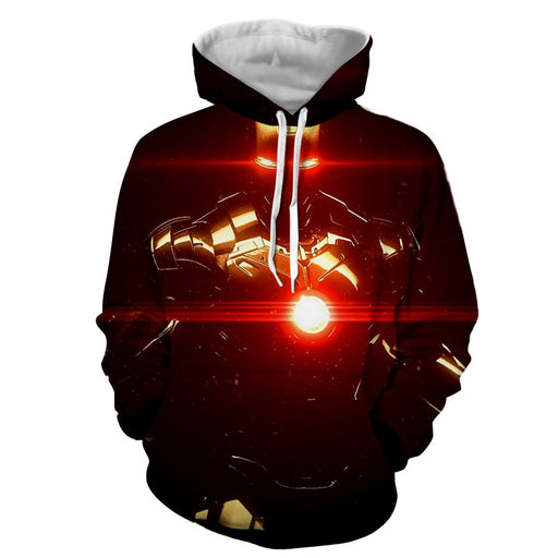 Iron Man's Power Portrait Dark Style Full Print Hoodie