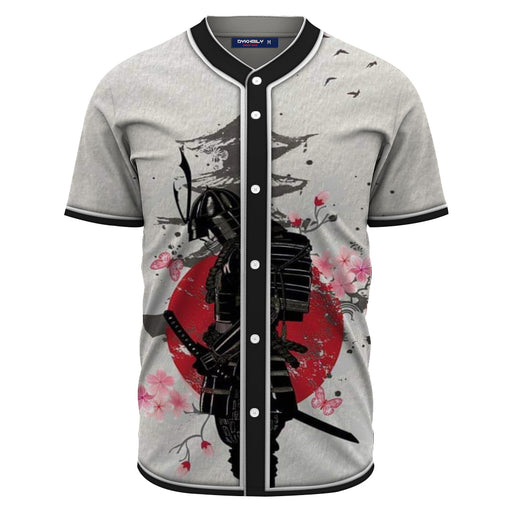 Japanese Samurai Warrior Temple & Sakura Baseball Jersey