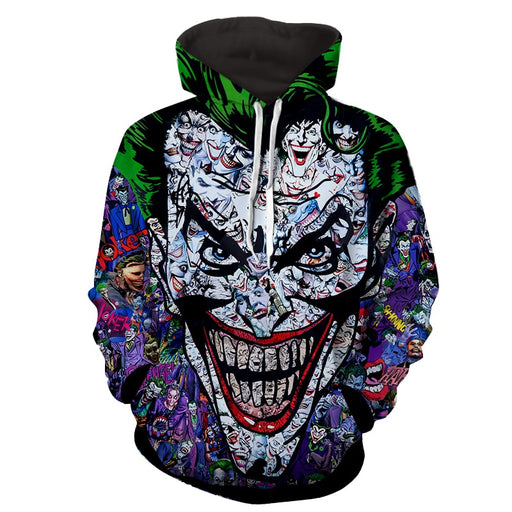 Joker Colorful Doodle Art Design 3D Full Print Hoodie