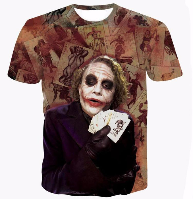 Joker Heath Ledger Legendary Role Card Play Cool Style T-Shirt - Woof Apparel