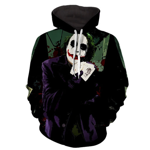 Joker Razor-Tipped Playing Cards Design Full Print Hoodie