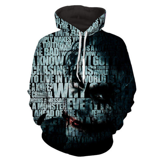 Joker The Curious Mischievous Clown Full Print Hoodie
