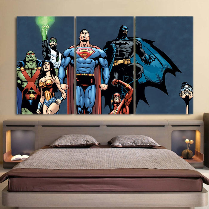 Justice League Dope Unique Art Style 3pcs Canvas Print