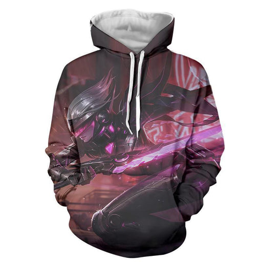 League of Legends Fiora The Heroic MOBA Champion Purple Hoodie - Superheroes Gears