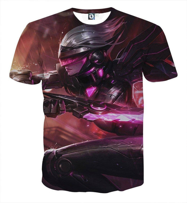 League of Legends Fiora The Heroic MOBA Champion Purple T-Shirt