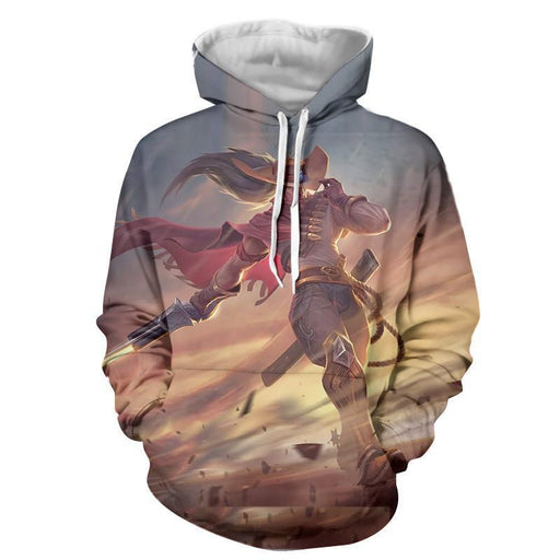 League of Legends High Noon Yasuo The Swordsman Pastel Hoodie