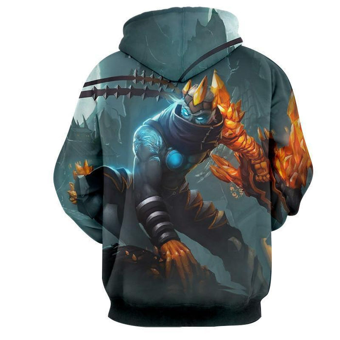 League of Legends Impressive Blight Crystal Varus Bow Comfy Hoodie