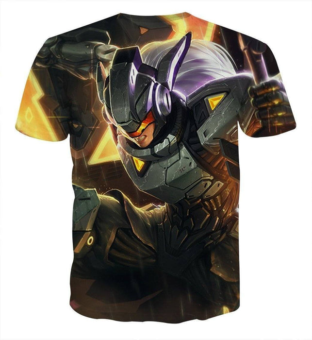 League of Legends Leona Female Warrior In Disguise 3D Print T-Shirt