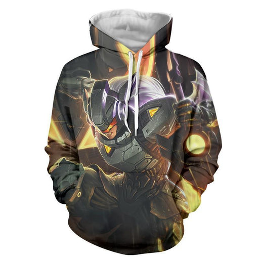 League of Legends Leona Female Warrior In Disguise 3D Print Hoodie